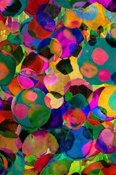rainbow spot print available on society6