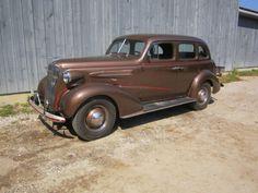 1937 Chevrolet Master Deluxe 4-Door Sedan  Ours is original silver grey w/ red pin stripe-bgs