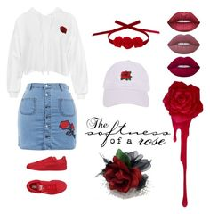 """""""Rosey"""" by ardrey on Polyvore featuring Sans Souci, Lime Crime, Puma, Vjera Vilicnik and Armitage Avenue"""