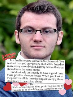 The inspiring words of Stephen Sutton who died of cancer recently.