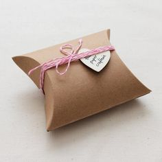Kraft Pillow Boxes Candy Gifts Favours Rustic by ThePaperCrafterie