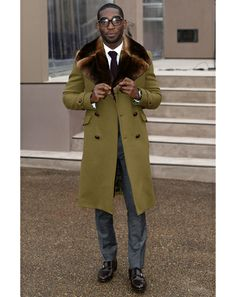 Love this coat for a chilly day at the races!