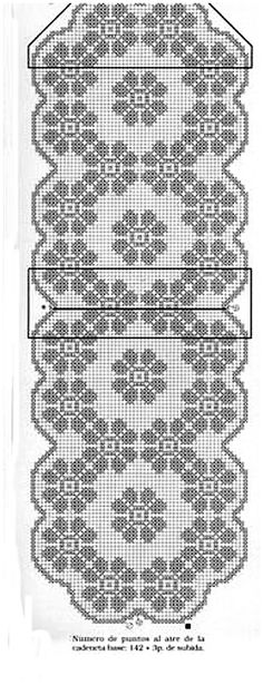 Home Decor Crochet Patterns Part 152 - Beautiful Crochet Patterns and Knitting Patterns Filet Crochet Charts, Crochet Diagram, Crochet Motif, Crochet Doilies, Crochet Stitches, Knit Crochet, Crochet Patterns, Crochet Snowflake Pattern, Crochet Cross