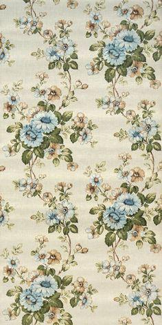 70s floral wallpaper #0608A - running meter o roll /1960s 1970s vintage flower wallpaper