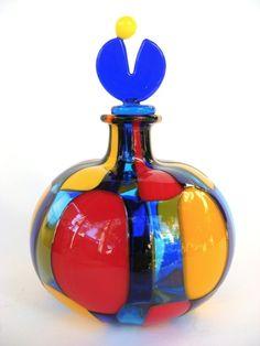 vase on ebey | SCHONE ANGELO BALLARIN MURANO GLAS VASE PEZZATO SIGNED | eBay