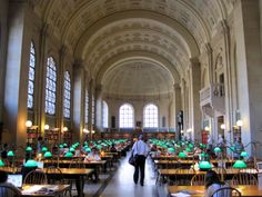 Reading Room of Boston's Public Library at Copley
