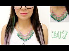DIY Collar moda / Cómo hacer un collar - Hablobajito - YouTube