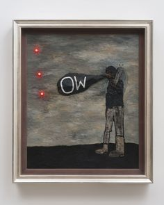 David Lynch -  Broken Heart, 2013 Oil and mixed media on canvas 71 x 55 inches