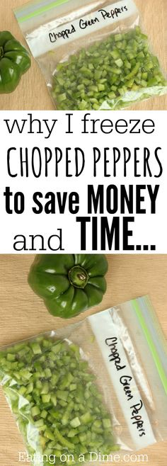 Freezing peppers- how to freeze peppers to save time and money!  It is so easy!