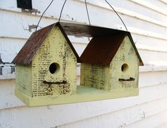 Yellow Birdhouse - for back garden