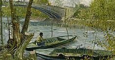 Image result for van gogh paintings la peche au printemps