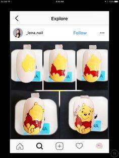 Cartoon Nail Designs, Cute Nail Art Designs, Bee Nails, Nail Drawing, Nail Art For Kids, Kawaii Nails, Spring Nail Art, Nail Decorations, Creative Nails