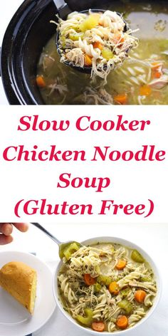 Slow Cooker Chicken Noodle Soup (Gluten Free), so healthy and full of flavor! | http://Tastefulventure.com