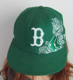 Boston Red Sox New Era 59FIFTY Fitted Green St Patrick's Day Baseball Cap 7 1/4 #47Twins #BostonRedSox