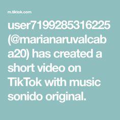 user7199285316225(@marianaruvalcaba20) has created a short video on TikTok with music sonido original. Tik Tok, The Originals, Create, Music, Musica, Musik, Muziek, Music Activities, Songs