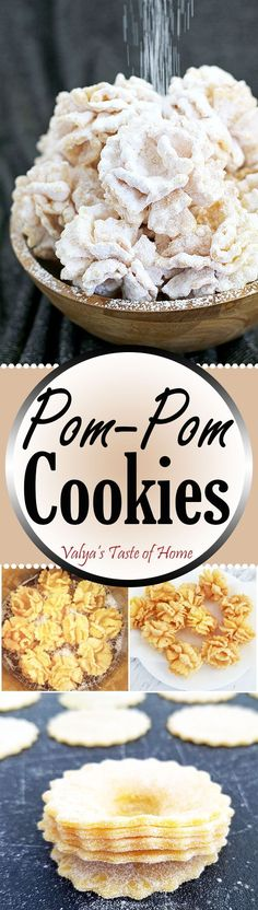 "Since Mother's Day is just around the corner, I really want to post Pom-Pom Cookies Recipe. Graduation is also upon us, and what better says ""celebrate"" than party pom-poms? They make for a perfect dessert for just about any occasion: holiday, birthday party, wedding, baby or bridal shower. For a special touch, color them with the party decoration and it's a theme!"