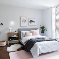 pink grey bedroom idea bedroom for women for teens for girls for couple master bedroom design. Bedroom Ideas For Couples Master Bedroom Design, Home Bedroom, Bedroom Carpet, Master Suite, Bedroom Interiors, Clean Bedroom, Bedroom Kids, Bedroom Apartment, Pink Gray Bedroom
