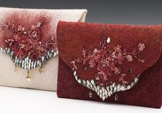 Felted bags by Anat Gelbard