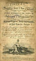 Pigot & Co.'s Metropolitan Guide & Book Of Reference To Every Street, Court, Lane, Passage, Alley And Public Building, In The Cities Of London & Westminster, The Borough Of Southwark, & Their Respective Suburbs & Miniature Plan Of London & Vicinity With The Geographical Bearings From The Dome Of St. Paul's c1820, via MAPCO