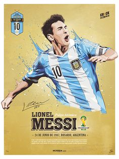 Messi es el número diez del equipo. Él es capitán del equipo. El equipo tiene el color azul y blanco.