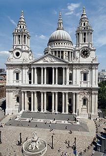 St. Paul's Cathedral, site of marriage of Prince Arthur and Katherine of Aragon.