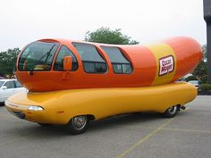 Cars as characters :: since I'm on this kick, may as well include the Weiner mobile. I think I applied for a job driving this in high school. Ended up at Taco Bell instead. Oh the glory of teen jobs.