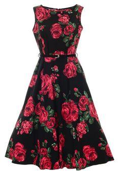 Red Rose Hepburn, Circle Dress from Lady Vintage  http://www.misswindyshop.com/fi/shop/vaatteet/mekot/red+rose+hepburn
