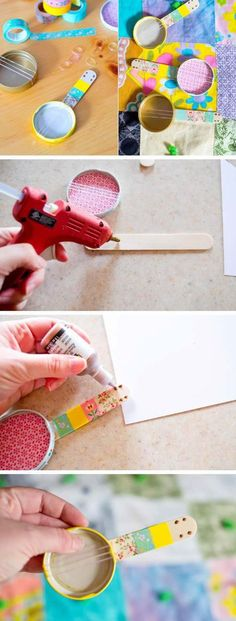 Diy mini banjos easy mothers day crafts for kids to make diy birthday gif. Kids Crafts, Easy Mother's Day Crafts, Mothers Day Crafts For Kids, Diy Mothers Day Gifts, Diy And Crafts Sewing, Crafts For Kids To Make, Diy Crafts Videos, Toddler Crafts, Crafts For Teens