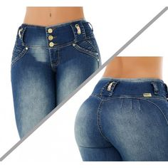 Basic Style, Wide Waistband for Better Comfort, Skinny Jean, Without Back Pockets , High Elasticity Light Weight Fabric, Fits True to Size, 3 Buttons in Front and Zipper, Handmade