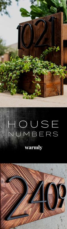 Modern House Numbers Modern House Numbers The perfect way to spice up your curb appeal on a budget . The post Modern House Numbers appeared first on Vorgarten ideen. Modern House Numbers - The perfect way to spice up your curb appeal on a budget . Rustic House Numbers, Door Design, House Design, Budget Planer, Front Door Decor, Door Entry, Front Yard Landscaping, House Front, Garden Projects