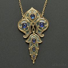 Art Nouveau Necklace by Marcus  Co ca.1900