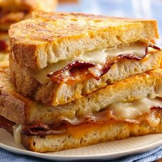 Grilled Cheddar and Provolone with Bacon....