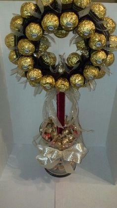 Ferrero rocher wedding centerpiece