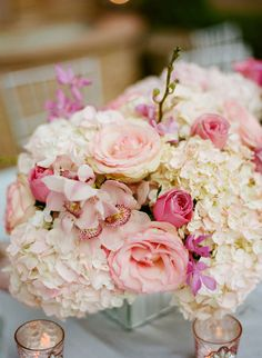 soft color floral arrangement