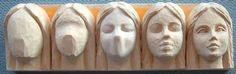 Doll face study stick for carving. From Doll Carving and Painting Artistry Yahoo Groups
