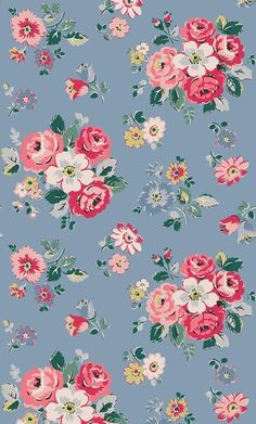 35 Ideas Wallpaper Whatsapp Vintage Illustration For 2019 Cath Kidston Wallpaper, Pink Wallpaper Iphone, Trendy Wallpaper, Flower Wallpaper, Pattern Wallpaper, Cute Wallpapers, Wallpaper Backgrounds, Vintage Wallpaper Patterns, Vintage Flowers Wallpaper