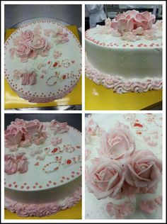Butter cream rose cake.
