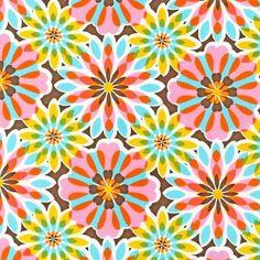 Glam Garden Fabric Floral Burst Robert Kaufman Summer by josiemart