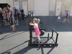 She's ready to workout on the sled!!! #sledtraining #workout #bustingbuttstosavebreasts #breastcancer #STSgetfit #ScottsTrainingSystems #sled