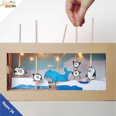 AistBox: 40 идей зимы: арктический кукольный театр  Если не хочется идти на улицу, можно здорово повеселиться и дома! Предлагаем вам с малышами смастерить зимний кукольный театр, который позволит проявить всю свою фантазию!