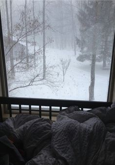 perfect window view in winter
