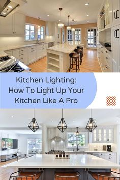 Having a proper lighting design can turn a simple kitchen into a luxurious cooking space! Interested? Here are some lighting tips to have in mind when designing your kitchen Over Cabinet Lighting, Kitchen Lighting Fixtures, Outdoor Light Fixtures, Dining Room Lighting, Outdoor Lighting, Kitchen Renovation Cost, Renovation Budget, Kitchen Remodel, Design Your Kitchen