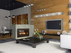 Traditional Freestanding Fireplace from Spark Modern Fires Model