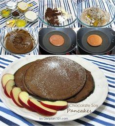 Chocolate Soy Pancakes (Atkins Diet Phase 1 Recipe) | Diet Plan 101