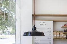 Artisan Cafe, Espresso Bar, White Flats, White Tiles, Cafe Design, Matcha, Athens, Lighting Design, Interior Architecture