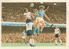 002 - Review Of The Season - Derby County were going for the double of League and Cup until the closing weeks of the season. In this action they are playing Manchester City (blue shirts) who won the League Cup.