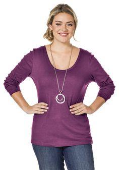 Typ , Shirt, |Material , dehnbare Rippware, |Materialzusammensetzung , 100% Baumwolle. Farbe Graumelange: 85% Baumwolle, 15% Polyester., |Ausschnitt , tropfenförmiger Ausschnitt, |Gesamtlänge , größenangepasste Länge von ca. 72 bis 80 cm, |Ärmellänge , lange Ärmel, |Pflegehinweise , Maschinenwäsche, | ...