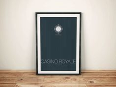 Casino Royale Inspired Alternate James Bond Movie Poster // Pinstripe Suite Pattern Poker Chip and Movie Quote Illustration