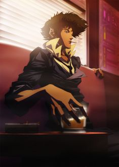 Cowboy Bebop- Spike is it just me or does he look a bunch like Jet from Avatar: The Last Airbender ? It's you, Cowboy Bebop came out MANY years before Avatar, so switch that around. Manga Anime, Art Anime, Blue Exorcist, Anime Love, Anime Guys, Cowboy Bebop Anime, Nicky Larson, Otaku, Movies