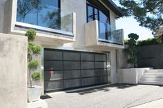 Frosted Glass Garage Sliding Door For Modern House Design With ...